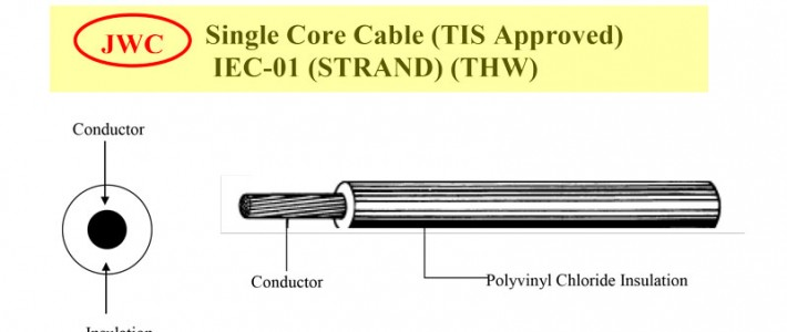Single Core Cable (TIS Approved) IEC-01 (STRAND) (THW)