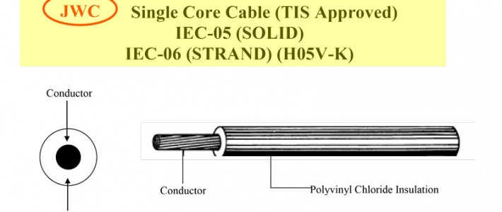 Single Core Cable (TIS Approved) IEC-05 (SOLID) IEC-06 (STRAND) (H05V-K)